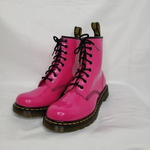 Dr Martens 1460 Lamper Pink 8 eyelet Boot Ladies10